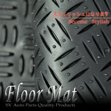 TOYOTA ALL WEATHER BLACK FRONT/REAR RUBBER RIDGE 3PCS FLOOR MATS SEDAN/COUPE/SUV