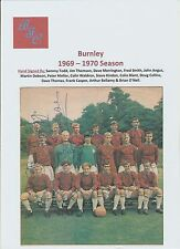 BURNLEY 1969-1970 ORIGINAL HAND SIGNED MAGAZINE TEAM GROUP WITH 15 X SIGNATURES