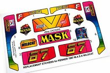 MASK stickers for KENNER M.A.S.K WILDCAT Stickers Personalized with Extra's