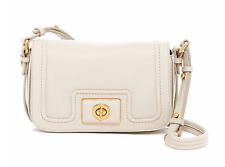 NEW MARC BY MARC JACOBS Revolution Joanna Leather Crossbody Bag Beige Ivory $278