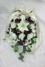 Custom Pew / Arch / Candelabra Arrangements ~ Lily Roses ~ Silk Wedding Flowers