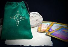 Witches Knot Green VELVET TAROT BAG wicca/pagan/Witchcraft/Divination