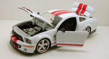 "Jada LoPro 2008 Ford Shelby GT- 500KR 1:24 scale 8.5"" diecast model White J19"