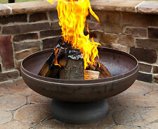 """24"""" FIRE PIT NATURAL STEEL FINISH MADE IN THE USA LIFETIME WARRANTY"""
