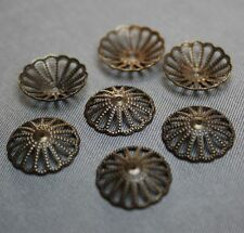 Low Antique Bronze Bead Cap 13mm  - Pack of 50 pcs