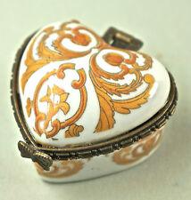 Caja con tapa, de pastillas, Porcelana, hermosa Decoración, hebilla metal D17)