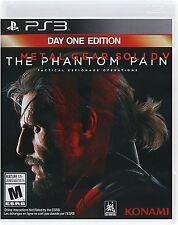 Metal Gear Solid V The Phantom Pain Day One Edition - NEW - PlayStation 3 PS3
