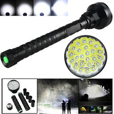 Super Bright 32000LM 24x XML T6 LED Flashlight Taschenlampe 26650/18650 Licht