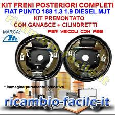 KIT FRENO A TAMBURO POSTERIORE FIAT PUNTO 188 1.3 1.9 DIESEL GANASCE CON ABS