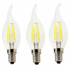 E14 4W 220V LED Flame Candel Vintage Edison Bulb Filament Lamp Light - Lot of 3