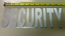 10 security uniform reflective iron on emblem decal logo , 11inch X 3 7/8 inch