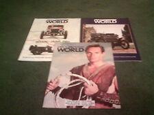 1988 1989 FIAT WORLD MAGAZINE 3 x ISSUES BROCHURE - X1/9 PANDA 4x4 UNO TIPO VANS