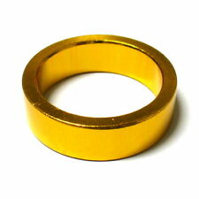 """gobike88 MR CONTROL Alloy 3mm Thick Headset Spacer 10mm, 1-1/8"""", 9g, Gold, L45"""