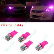 Pink T10 5LED 194 168 Parking Light For Toyota Landcruiser 80 Series 93-97 -4x