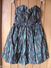 Jack Wills Bleakley Blue Dress Size 10 NEW (tags) (Ref Z) Excellent Condition