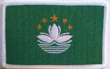 Macau Flag Embroidered Iron-On Patch China Province White Border
