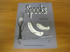 Vintage Sheet Music Spooks Piano Solo, Josephine Canfield 1940 Ghost/spookytree