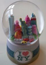 I HEART (LOVE NEW YORK) NY SKYLINE STATUE OF LIBERTY SNOW WATER GLOBE
