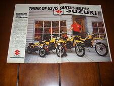 1982 SUZUKI RM-80 RM-60 DS-80 JR-80  -  ORIGINAL 2 PAGE AD