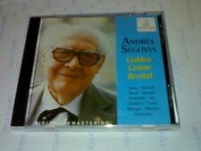 ANDRES SEGOVIA CD 30 TITRES GOLDEN GUITAR RECITAL (1995) ERMITAGE RECORDS