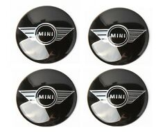 MINI COOPER ALA centro Adesivo Caps Set di quattro Taglia 50mm IMPERMEABILE HUB UK