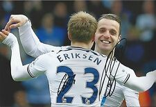 ERIKSEN & SOLDADO - Hand Signed 12x8 Photo - Tottenham Hotspur Spurs - Football