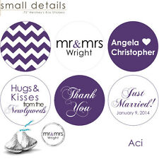 """108 - .78"""" Custom Wedding Stickers for Hershey's Kisses Chocolate Favors"""