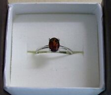 NWT RING Oval Cut Mozambique Garnet 925 Nickle Free Sterling Silver Size 5