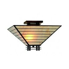 Stained Glass Shade Ceiling Lighting Semi Flush Light Fixture Tiffany Mission