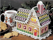 GINGERBREAD CANDY HOUSE/COTTAGE - VINTAGE PLASTIC CANVAS PATTERN
