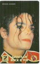 RARE / CARTE TELEPHONIQUE PREPAYEE - MICHAEL JACKSON / PHONECARD TELEPHONE CARD
