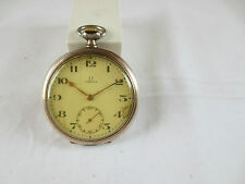 Omega reloj de bolsillo de 800er plata Bienne Geneve-vintage Men pocket watch
