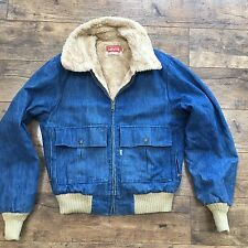 Men's Levi's  Vintage Western Denim Sherpa Fur Lined Jacket Size Small