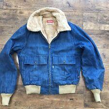 Men's levi's vintage western denim sherpa doublé de fourrure veste taille s