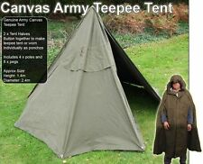 Genuine Polish Military Lavvu Tipi Tent canvas bushcraft Preppers TeePee Army
