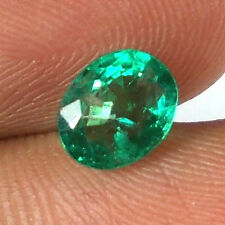 1.11ct NATURAL EMERALD OVAL ~ STEEL MINE ZAMBIAN ~ AAA TOP FIRE EXCLUSIVE GEM