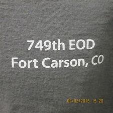 "749th EOD T-Shirt, Ft. Carson, CO, Dark Gray, ""Keep Calm & Love an EOD Tech"""
