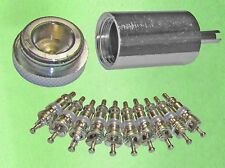 Acces Valve Core Remover Installer + 10 Replacement Cores for AC & Refrigeration