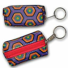 Hexagon Lipstick Coin Purse Keychain Color-Changing Lenticular #R-181-GLOBI#
