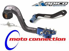 APICO FACTORY BRAKE PEDAL & GEAR SHIFTER LEVER - BLACK/BLUE YAMAHA YZ125 05-16