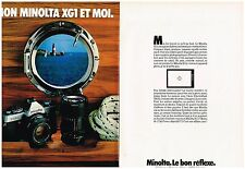 PUBLICITE ADVERTISING 054 1979  MINOLTA  XGI   appareil photo ( 2 pages)