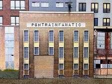 *O Scale Scratch Built Industrial #4G Factory Building Front/Flat, MTH Lionel*