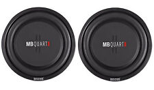 "(2) MB Quart DS1-254 10"" Shallow Mount Car/Truck Subwoofers w/Poly Cones"