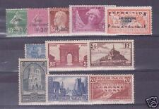 FRANCE STAMP ANNEE COMPLETE 1929 N°253/262 11 TIMBRES NEUFS xx TTB VALEUR: 3033€