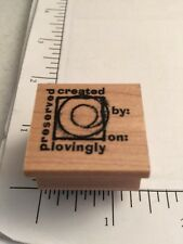 "Club Scrap Rubber Stamp-""Created By"""