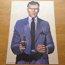 Vintage Law Enforcement Target Practice Poster/Drew Pritchard Salvage Hunters N5