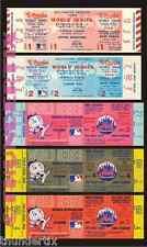 5 1969 WORLD SERIES UNUSED FULL TICKETS NEW YORK MIRACLE METS ALL GAMES + BONUS
