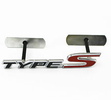 Car Auto Front Grill 3D Metal Black Red TYPE-S Emblem Badge Bolt fixed on Grille