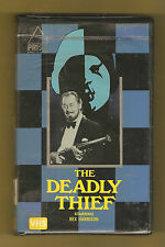 """THE DEADLY THIEF"" 1979 (Prism Entertainment) Rex Harrison BIG Box clamshell vhs"