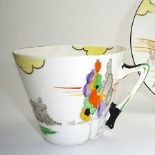 Art Deco Hand Painted Coffee Cup by Britannia Pottery Co